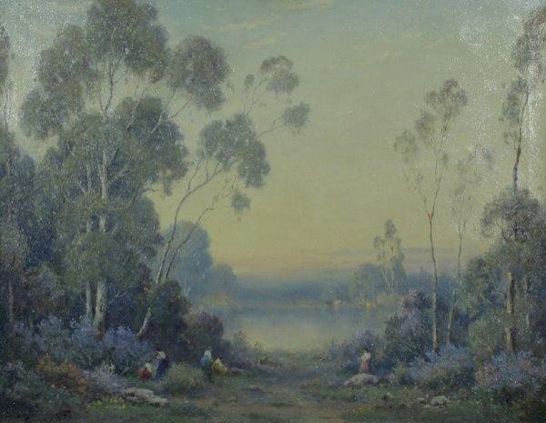 21: A PODCHERNIKOFF Russian California Oil Painting 1
