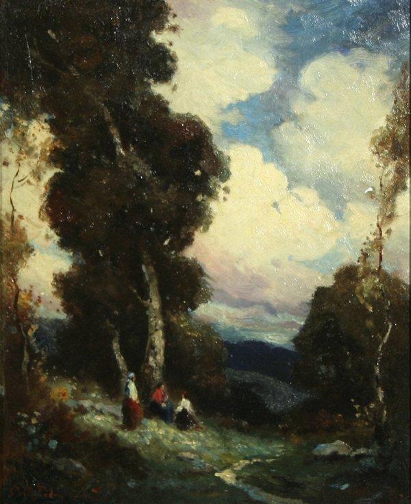 22: A PODCHERNIKOFF Russian California Oil Painting 2