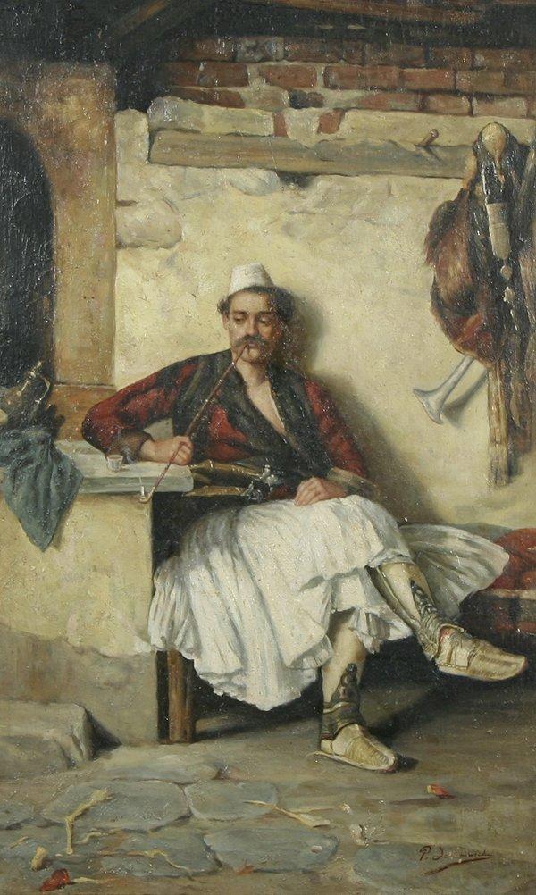 73: P. SEMONOWICH 19th C Antique Oil Painting