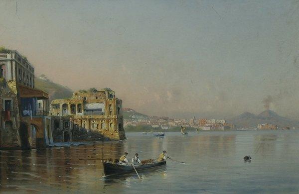109: BATTISTA ITALIAN B1858 Naples and Vesuvius