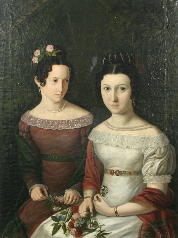 1: NEFF (ATTR) (RUSSIAN) Portrait, 1861 Oil Painting