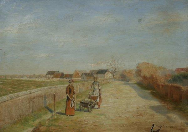 7: POKITONOV (UKRAINIAN), Road to Village Oil Painting