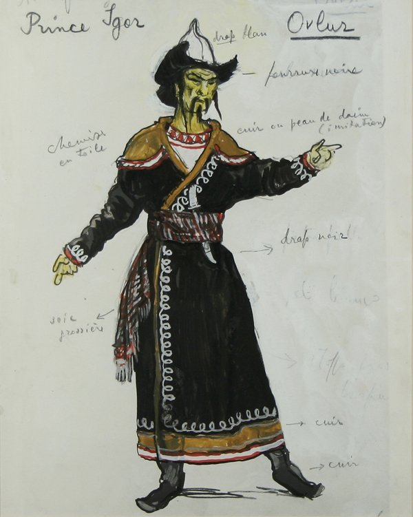 13: BENOIS (RUSSIAN) Prince Igor Costume Design