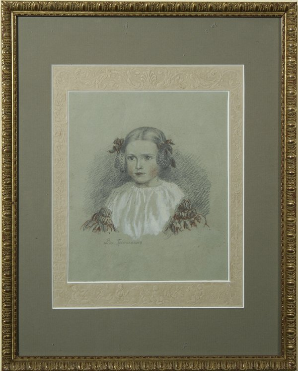 16A: TROPININ (RUSSIAN) Portrait of Little Girl Mixed