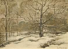 89: WIGGINS, N.A. (AMERICAN) Winter, Old Lyme, CT Oil