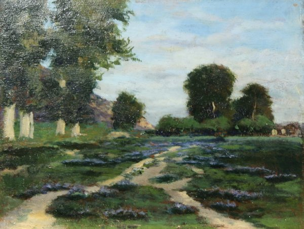 197: ONDERDONK (AMERICAN) Blue Bonnets Oil Painting