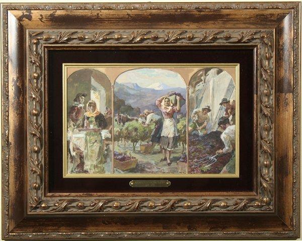 1004: SOKOLOFF (RUSSIAN) Rioja, Argentina Watercolor