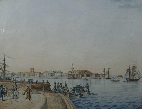 1005: PATERSSEN (ATTR) RUSSIAN Watercolor, 1807