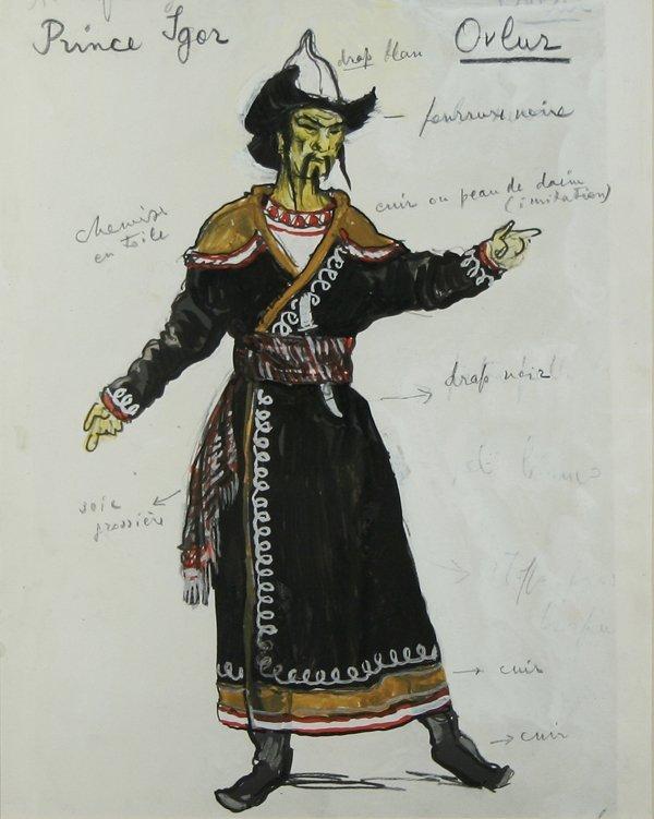 1011: BENOIS (RUSSIAN) Prince Igor Costume Design