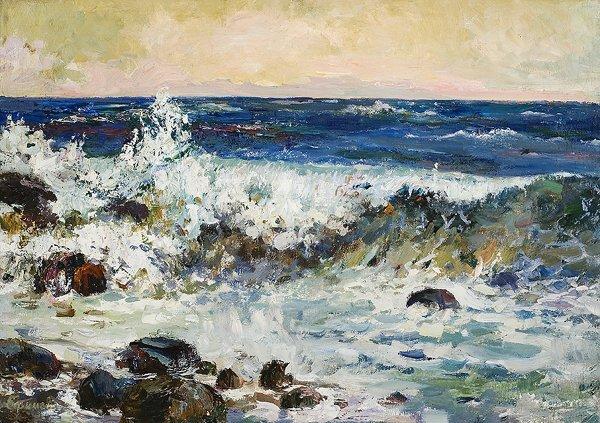 1023: EFIMOVA (YEFIMOVA) (RUSSIAN) Wave Oil Painting