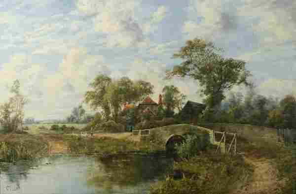CLARK (BRITISH) English Countryside Oil Painting