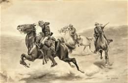 CHARLES SCHREYVOGEL AMERICAN 1861-1912