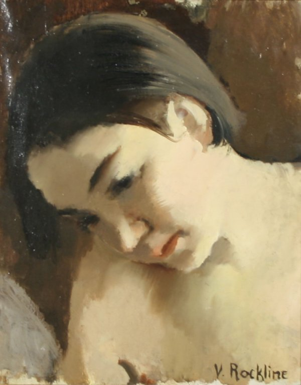 9: V. S. ROCKLINE (RUSSIAN-FRENCH) Young Woman Oil
