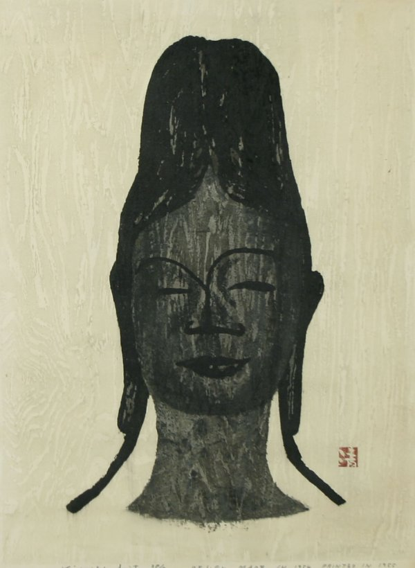 1001: SAITO (JAPANESE) 1955 Buddha Woodcut