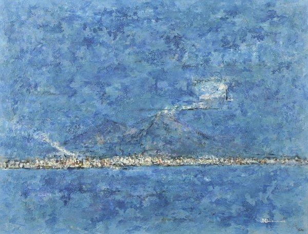1002: UCHIDA (JAPANESE) Mount Vesuvius Oil