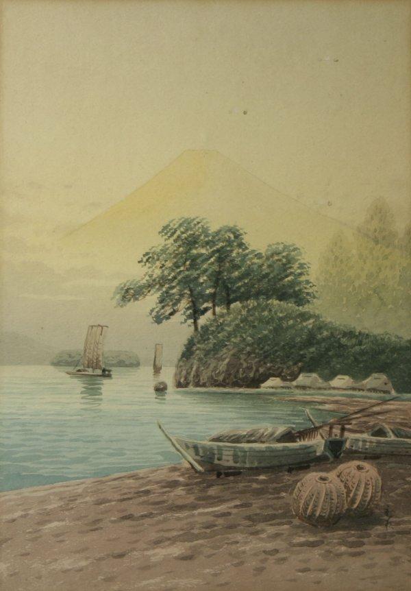 1003: JAPANESE Mount Fujiama Watercolor