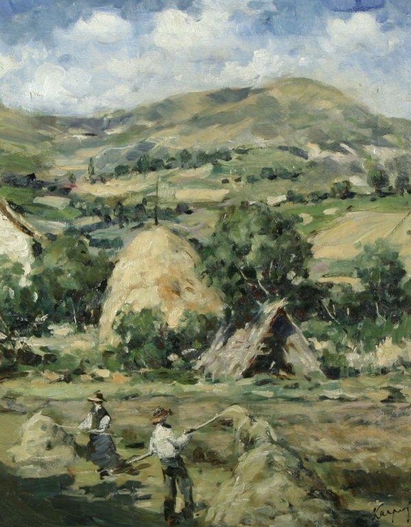 1009: KARPOF (RUSSIAN) Haying the Field Oil