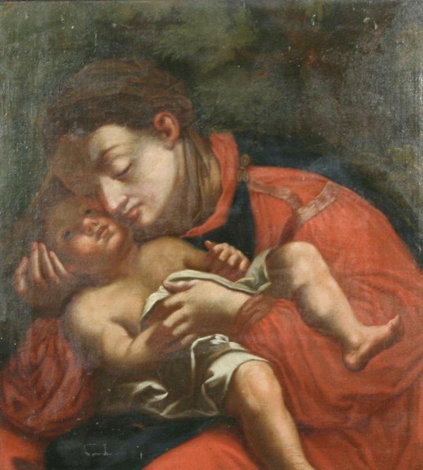 1022: PARMIGIANINO (CIRCLE OF) (ITALIAN) 1540 Oil