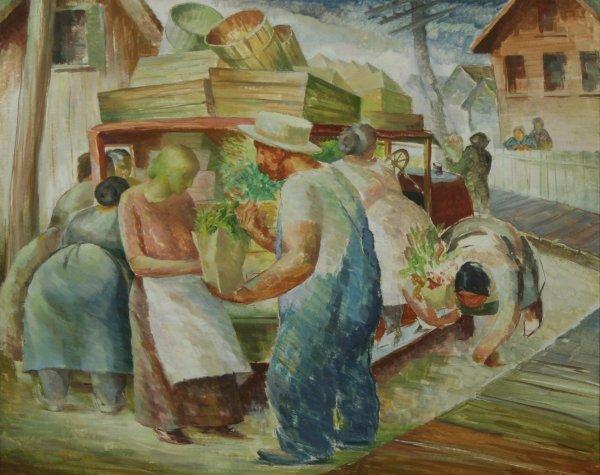 1111: ROSE (AMERICAN) Produce Seller Watercolor