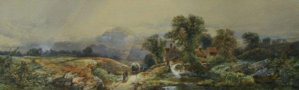 12: LEWIS (AMERICAN) Near Lake George Watercolor