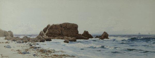20: BRICHER (AMERICAN) Low Tide Watercolor