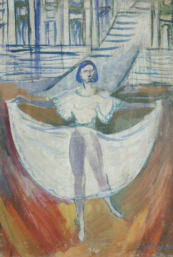 48: GONCHAROVA (RUSSIAN) Dancer Oil