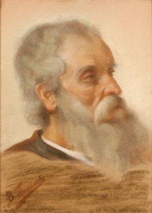 1: POLENOV (ATTR) (RUSSIAN 1844-1927) Portrait