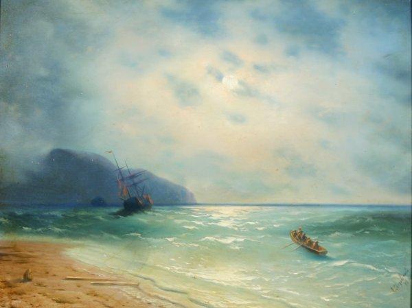 4: AIVOZOVSKY (ATTR) (RUSSIAN 1817-1900) Oil