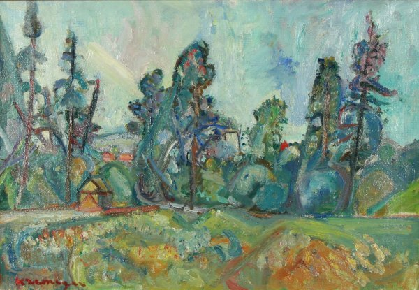14: KREMEGNE (RUSSIAN 1890-1981) Landscape Oil