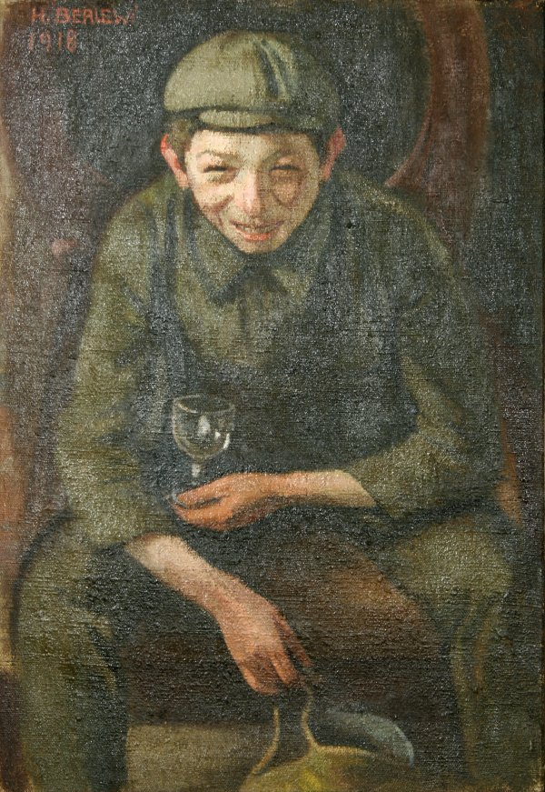 19: BERLEWI (POLISH 1894-1967) Smiling Boy Oil