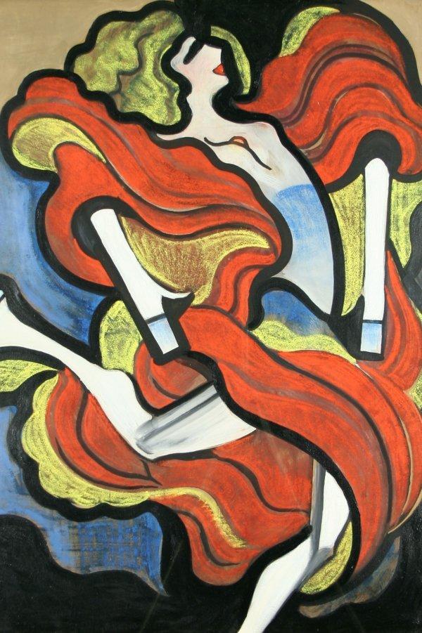 22: SCHEIBER (HUNGARIAN 1873-1950) Dancer Oil