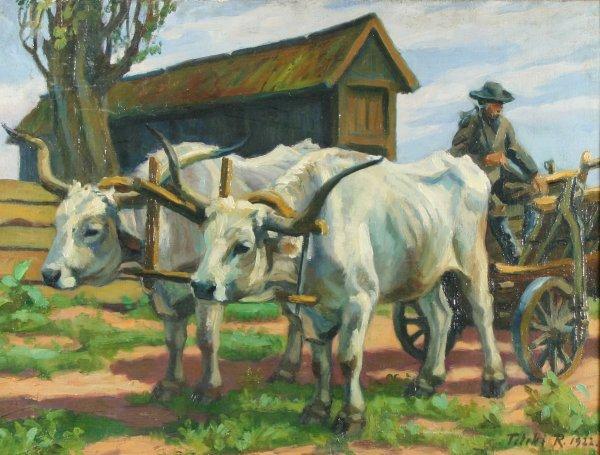 23: TELEKI (HUNGARIAN 1890-1982) Farmers Oil