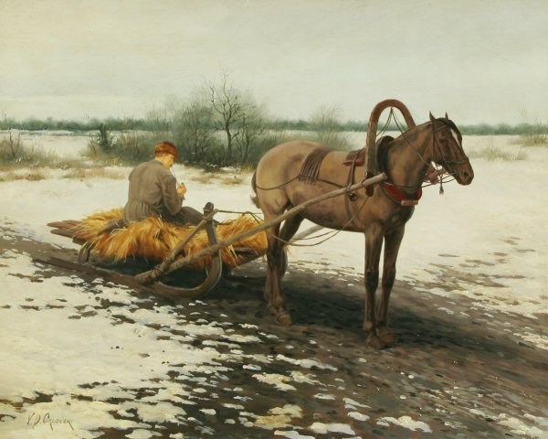 1015: ORLOVSKY (RUSSIAN 1842-1914) Oil Painting