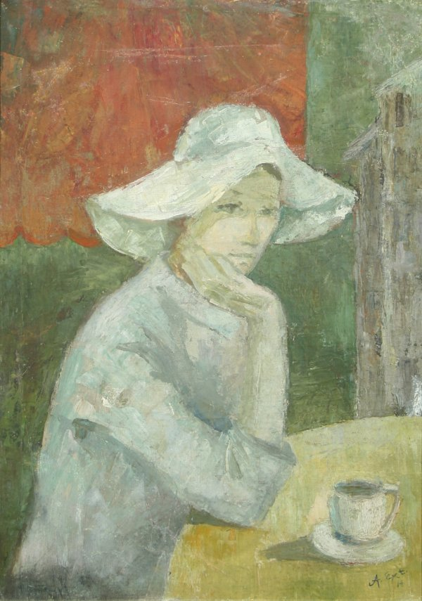1101: FRENCH SCHOOL( 20TH C) Young Woman Oil
