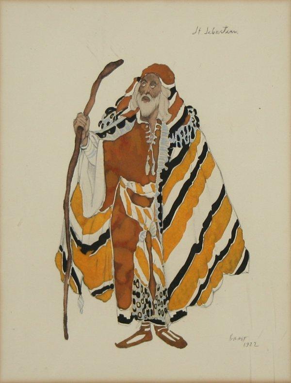 "6: BASKT (RUSSIAN 1866-1924) ""St. Sebastian"" Sta"