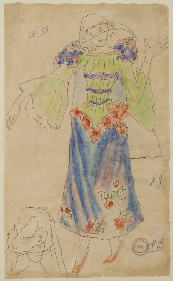 "8: GONCHAROVA(RUSSIAN 1881-1962) ""Costume Design"