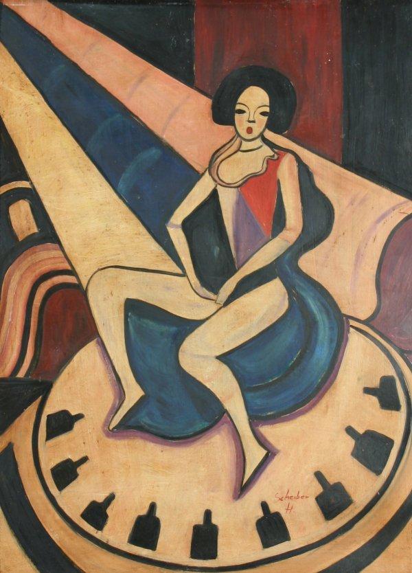 """18: SCHEIBER (HUNGARIAN 1873-1950) """"Woman"""""""