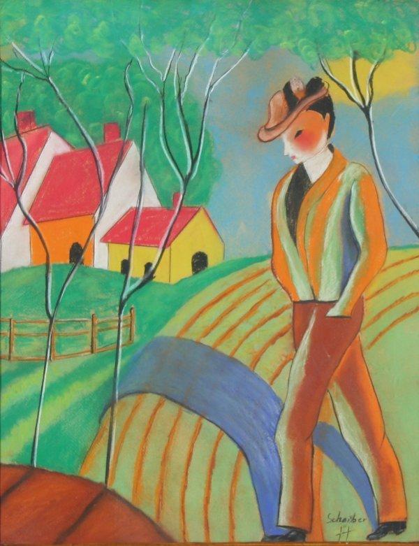 """19: SCHEIBER (HUNGARIAN 1873-1950) """"Faust Landsca"""