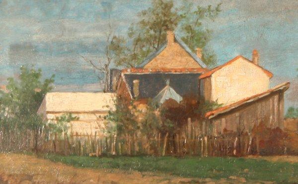 "20: POPLAUSKI(POLISH 1852-1885) ""The Farmyard"""