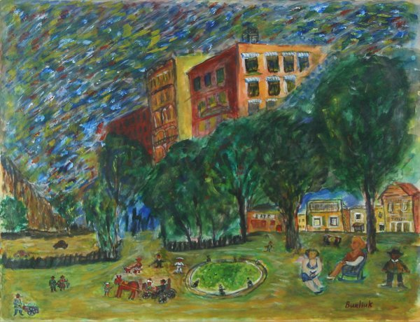 """24: BURLIUK (RUSSIAN 1882-1967) """"Promenade"""""""