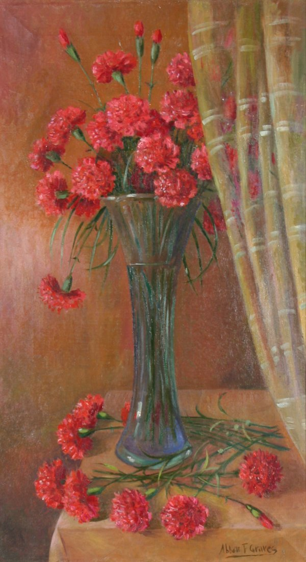 """61: GRAVES(AMERICAN 1859-1936) """"Carnations in"""