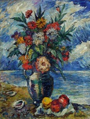 "3: BURLIUK  (RUSSIAN 1882-1967) ""Flowers and Fruit"""