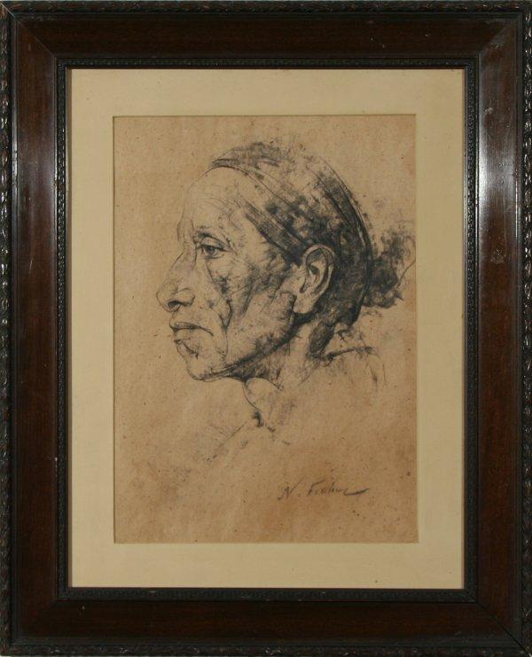 3: FECHIN (RUSSIAN/AMERICAN 1881-1955) Portrait
