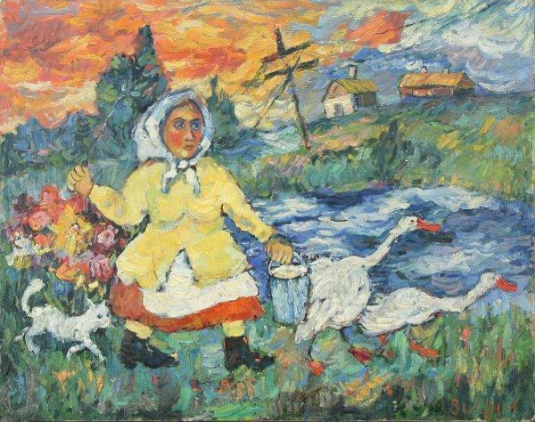 6: BURLIUK (RUSSIAN/AMERICAN 1882-1967) Ducks