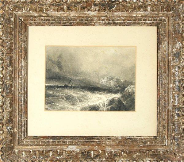 10: TURNER (ATTR) (BRITISH 1775-1851) Stormy Sea
