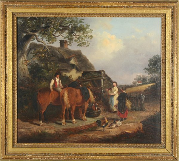 11: SMYTHE (ENGLISH 1825-1906) Farmyard Scene