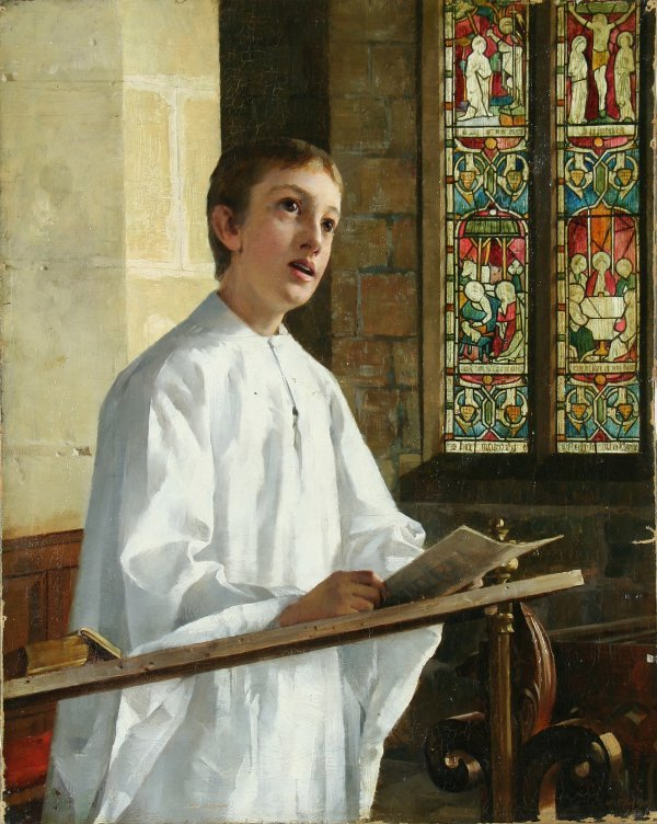 12: CLARK (ENGLISH 1834-1926) Choir Boy