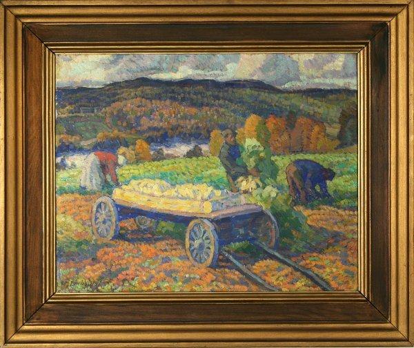 16: LINDQUIST (SWEDISH 1884-1977) Fall Harvest