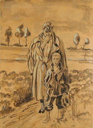 2: MALCZEWSKI (POLISH 1854-1929) Walkers