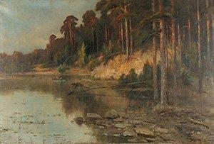 3: LEVITAN (ATTR)(POLISH/RUSSIAN 1860-1900) Wood